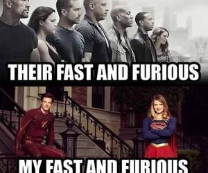 flash, Supergirl, and dc comics image