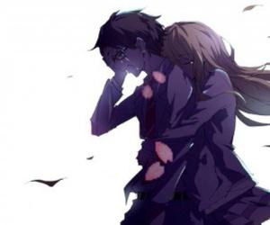 anime, shigatsu wa kimi no uso, and sad image