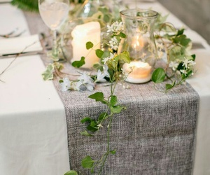candles, wedding table, and white image