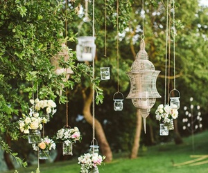 wedding, flowers, and nature image
