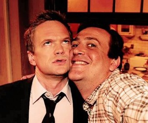 how i met your mother, barney, and marshall image