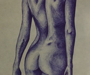 art, body, and drawing image