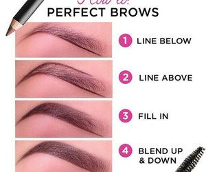 eyebrows, makeup, and tutorials image