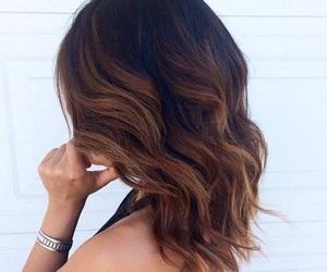 hair, girl, and wavy image