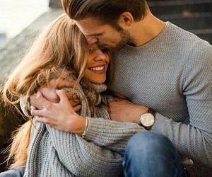 love, couple, and kiss image