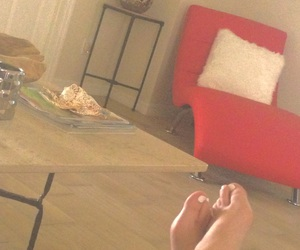 feet, florida, and red chair image