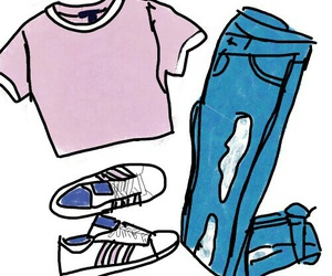 draw, jeans, and outfit image