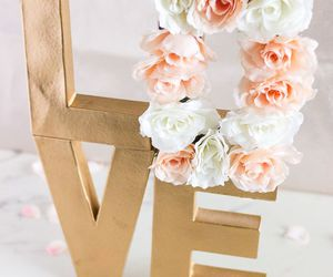 florals, flowers, and gold image