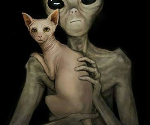 alien and cat image
