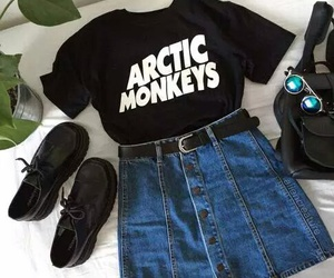 fashion, arctic monkeys, and outfit image