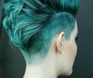 girl, hairstyles, and hair green image
