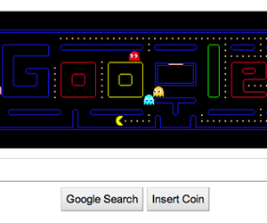 google and pac-man image