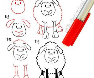 doodle, sheep, and tutorial image