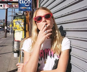 girl, 90s, and smoke image