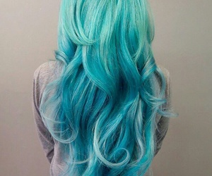 hair, blue, and long image