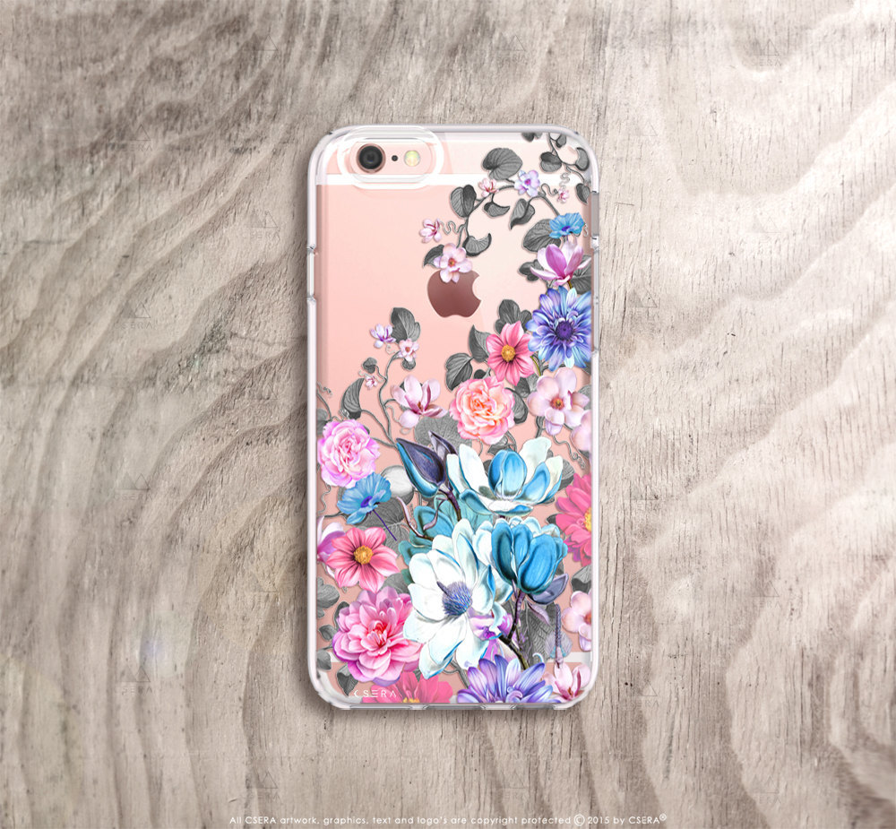 Floral Iphone 6s Case Clear Floral Iphone 6s Plus Case Clear