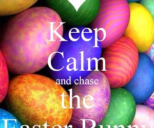 bunny, easter, and keep calm image