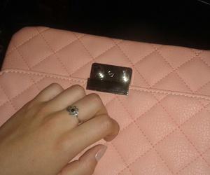 handbag, pink, and night image