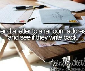 bucketlist, goals, and Letter image