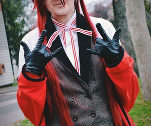 con, red, and grell image