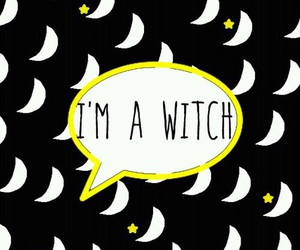 moon, wallpaper, and witch image