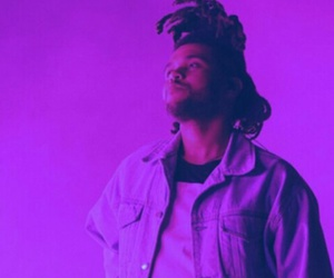 the weeknd, pink, and purple image