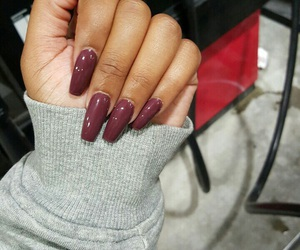 acrylics, berry, and nails image