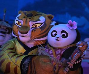 dreamworks, kung fu panda, and po and tigress image