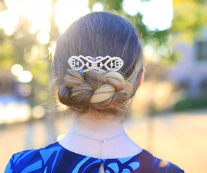hairstyle, updohairstyle, and flippedbraid image