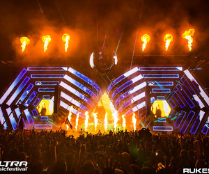 fire, hands up, and edm image