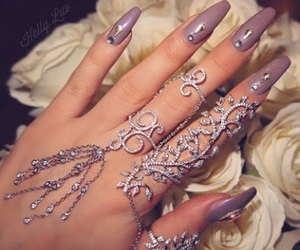 lilac, nails, and pretty image