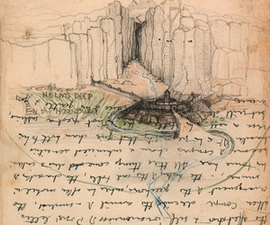 drawing, illustration, and middle earth image