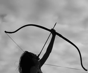 arrow, bow, and aesthetic image