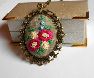 etsy, flower necklace, and vintage style image