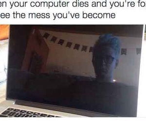 blank, computer, and funny image