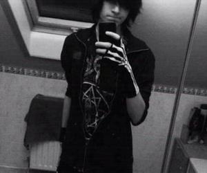 emo, boy, and black image