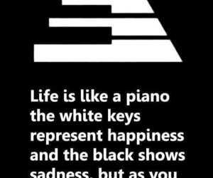 life, quotes, and piano image