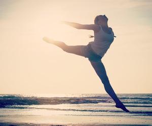 beach, gymnastics, and sun image