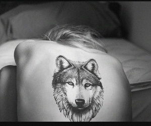 animals, wolf, and tattos image