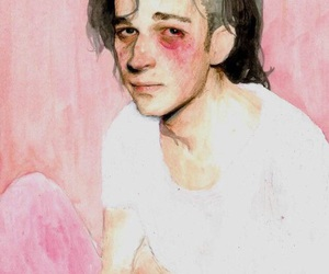 the 1975, art, and pink image