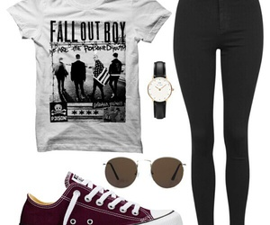 clothes, converse, and fall out boy image