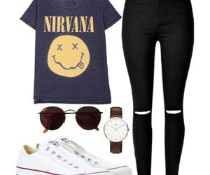 converse, girl, and nirvana image