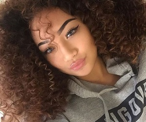 beauty, girl, and curly hair image