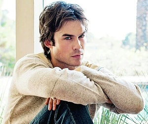 ian somerhalder, damon salvatore, and tvd image