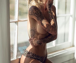 beautiful, Chick, and naked image