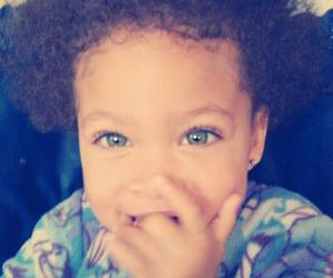 baby, oun, and blue eyes image