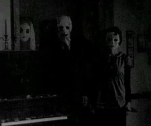 horror, creepy, and black and white image