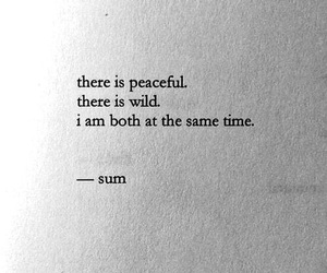 quotes, wild, and peace image