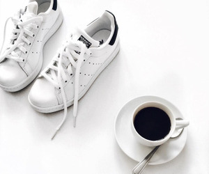 coffee, shoes, and adidas image
