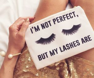 makeup, lashes, and quote image